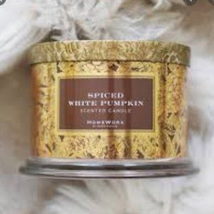 NEW Homeworx Spiced White Pumpkin candle